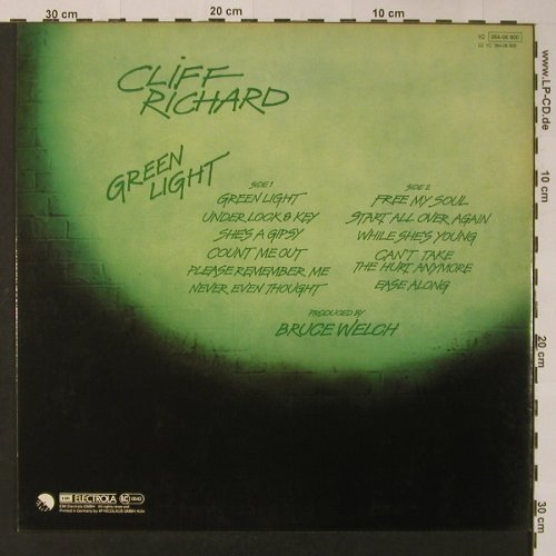 Richard,Cliff: Green Light, EMI(064-06 800), D, 1978 - LP - F3308 - 7,50 Euro