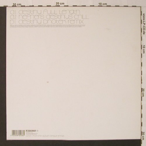 Zero 7: Destiny*3, Ultimate D(), UK, 2001 - 12inch - F4491 - 5,00 Euro