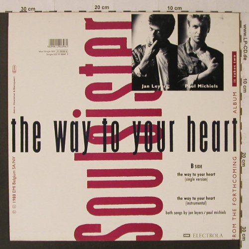 Soulsister: The Way To Your Heart*(sing+inst), EMI(11 9239 6), EEC, 1988 - 12inch - F4988 - 2,50 Euro
