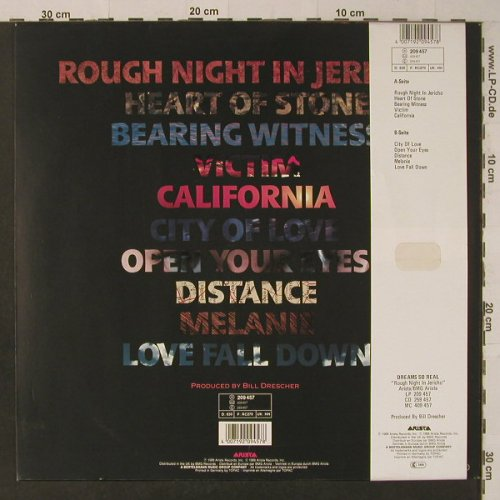 Dreams So Real: Rough Night in Jericho, Arista(209 457), D, 1988 - LP - F5573 - 5,00 Euro