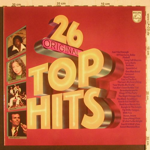 V.A.26 Original Top Hits: Barry White,Leo Sayer,Nazareth..Foc, Philips(6612 054), D,  - 2LP - F6077 - 5,00 Euro