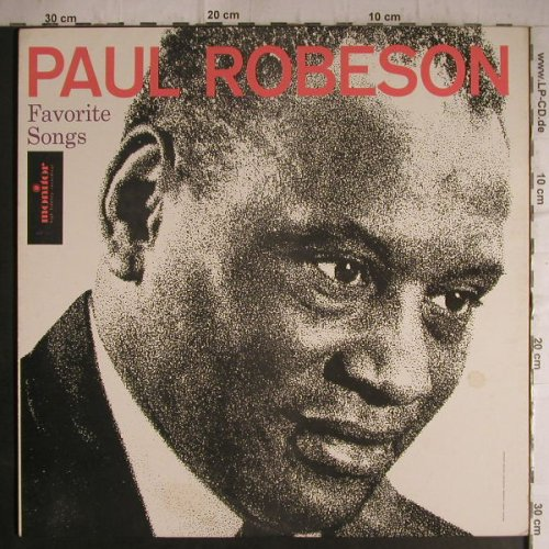 Robeson,Paul: Favorite Songs, Alan Booth,piano, Monitor(MP 580), US,  - LP - F7158 - 7,50 Euro