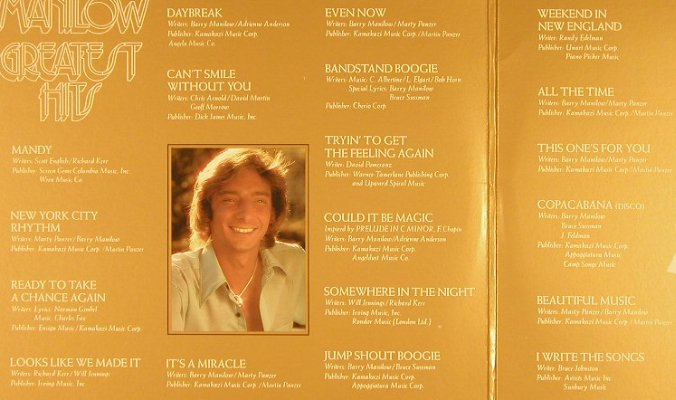 Manilow,Barry: Greatest Hits, Foc, Arista(A2L 8601), US, 1978 - 2LP - F7894 - 7,50 Euro