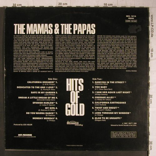 Mamas & Papas: Hits of Gold, MCA(MCL 1614), UK, Ri,  - LP - F8128 - 4,00 Euro