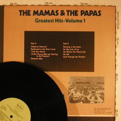 Mamas & Papas: Greatest Hits Vol.1, TeeVee Rec.(TV-1006), US, 1977 - LP - F8230 - 5,00 Euro
