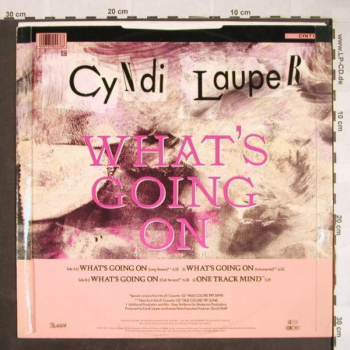 Lauper,Cindy: What's Going On*3+1, Portrait(CYN T 1), UK, 1986 - 12inch - F9840 - 5,00 Euro