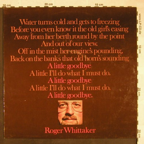 Whittaker,Roger: A Little Goodbye, Aves(MLP 15.945), D,  - LP - F9874 - 5,00 Euro