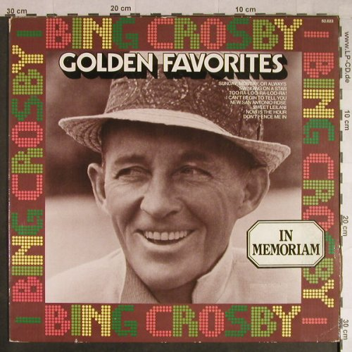 Crosby,Bing: Golden Favorites - In Memorian, MCA(52.023), D, Ri, 1973 - LP - H1088 - 4,00 Euro