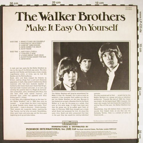 Walker Brothers: Make It Easy On Yourself, Contour/Pickwick(CN 2017), UK,  - LP - H1594 - 5,00 Euro