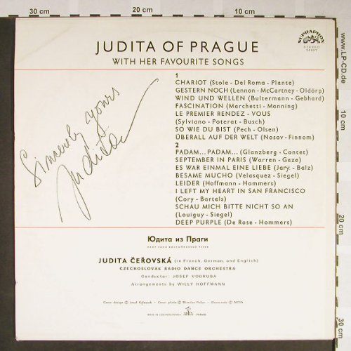 Judita: of Prague-with her favourite Songs, Supraphon-Autogramm(54 691), CZ, 1967 - LP - H2111 - 10,00 Euro