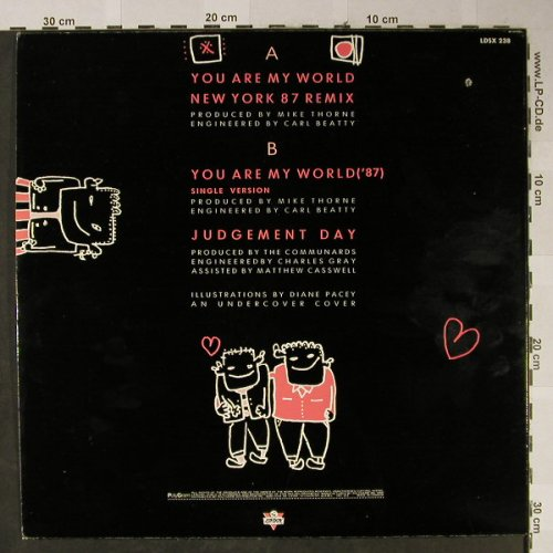 Communards: You Are My World+2,NY 87 remix, London(LDSX 238), CDN, co, 1987 - 12inch - H2428 - 3,00 Euro