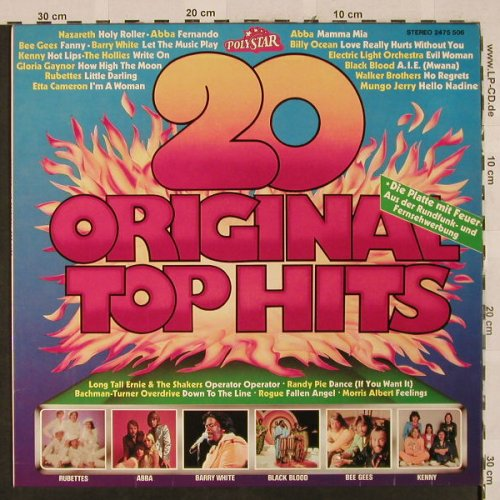 V.A.20 Original Top Hits: Abba..Walker Brothers, Polystar(2475 506), D, 1976 - LP - H2662 - 4,00 Euro