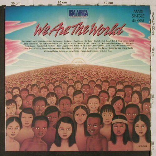 USA For Africa: We Are The World+1, CBS(A 12-6112), NL, 1985 - 12inch - H2871 - 3,00 Euro