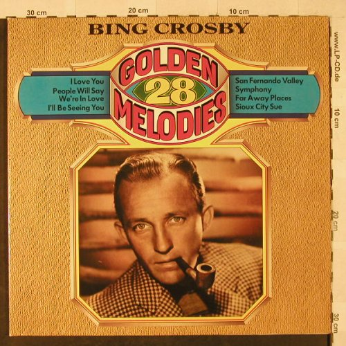 Crosby,Bing: 28 Golden Melodies, Foc, MCA(301 378-370), D, Ri, 1980 - 2LP - H2976 - 7,50 Euro