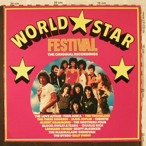 V.A.World Star Festival: orign.Rec.-Tremelos...Blood,Sweat&T, CBS(64 575), NL, 1975 - LP - H3729 - 4,00 Euro