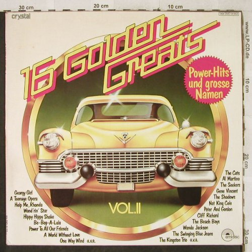 V.A.16 Golden Golden Greats: Vol.2-Seekers...Laurie London, Emidisc(054 EMD 31 553), D, Mono,  - LP - H3805 - 4,00 Euro