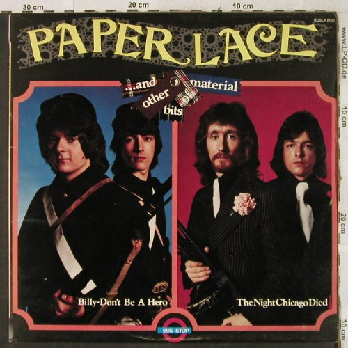 Paper Lace: ...and other bits of Material, Bus Stop(BUSLP 8001), UK, 1974 - LP - H3815 - 6,50 Euro