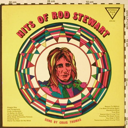 Thomas,Craig: Hits of Rod Stewart, Stereo Plus 3(STR 016), UK, 1973 - LP - H4026 - 6,00 Euro