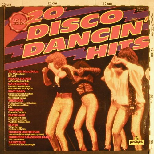 V.A.20 Disco Dancin' Hits: Gary Glitter,Paper Lace,T.Rex,Kinks, Pickwick(PLE 7010), UK,  - LP - H404 - 4,00 Euro