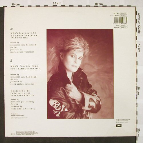 Dean,Hazel: Who's leaving who*2, remix, EMI(202573 6), D, 1988 - 12inch - H4242 - 2,50 Euro