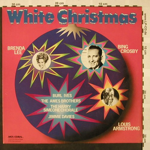 V.A.White Christmas: Bing Crosby,Armstrong,Brenda Lee.., MCA Coral(64 014), D, DSC,  - LP - H4609 - 5,00 Euro