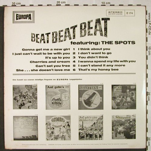 V.A.Beat Beat Beat: featuring : The Spots, Europa(E 174), D,  - LP - H4663 - 6,00 Euro