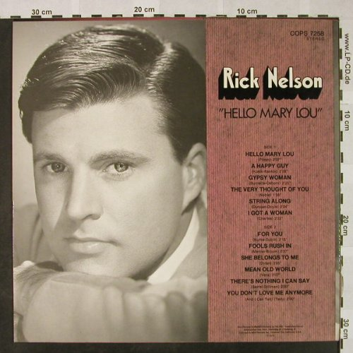 Nelson,Rick: Hello Mary Lou-Yesterday's PopScene, MCA Coral(COPS 7258), D, 1974 - LP - H4738 - 6,00 Euro