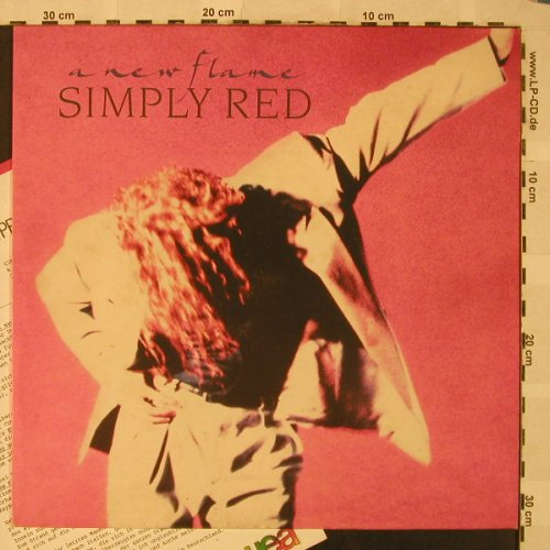 Simply Red: A New Flame, Facts, Elektra(244 689-1), D, 1989 - LP - H5112 - 7,50 Euro