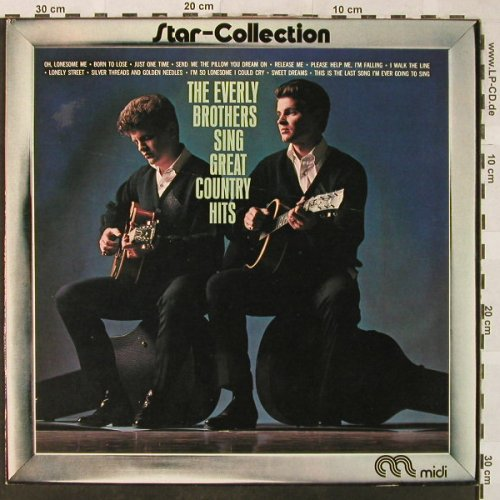 Everly Brothers: Sing Great Country Hits, Ri, Midi(MID 26 025 F), D, 1963 - LP - H5207 - 5,00 Euro