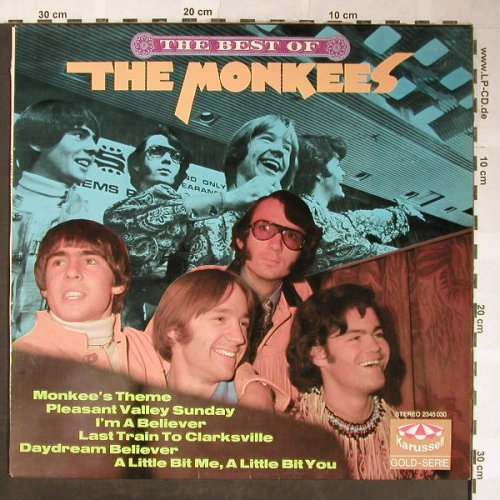 Monkees: The Best Of, Karussell(2345 030), D, 1972 - LP - H5485 - 7,50 Euro