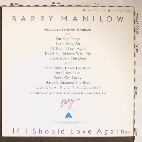 Manilow,Barry: If I Should Love Again, Arista(), D, 1981 - LP - H5571 - 5,50 Euro