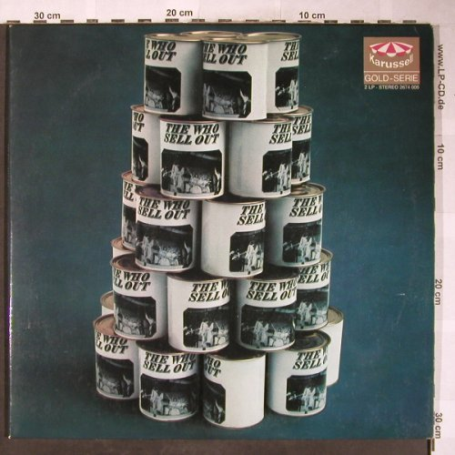 Who: Sell Out, Foc, vg/vg+, Stol, Karussell(2674 006), D, 1967 - 2LP - H6039 - 20,00 Euro