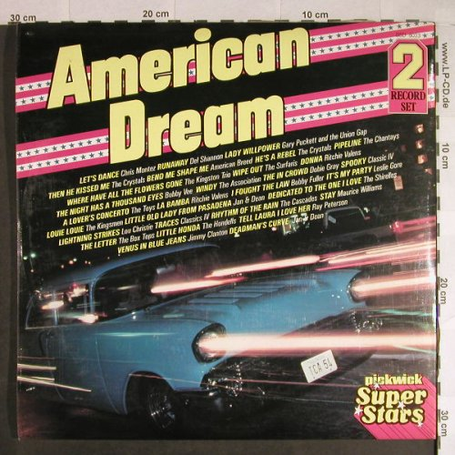 V.A.American Dream: Association...Crystals, Foc, Pickwick(SSD 8033), UK, 1980 - 2LP - H725 - 5,50 Euro