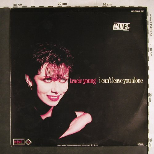 Young,Tracie: I Can't Leave You Alone*2+1, EMI,orangeVinyl(6.20463 AE), D, 1985 - 12inch - H7513 - 1,50 Euro