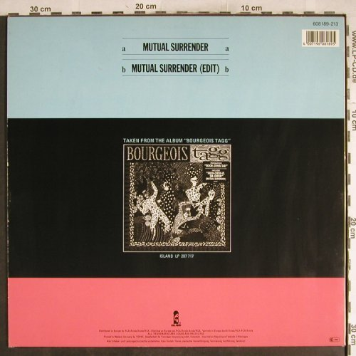 Bourgeois Tagg: Mutual Surrender/ Move Up, Island(608 189-213), D, 1986 - 12inch - H7559 - 1,00 Euro