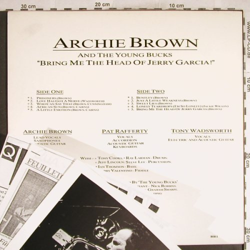 Brown,Archie and t.Young Bucks: Bring Me The Head Of Jerry Garcia, Robbins(ROB 1), , 1987 - LP - H7562 - 5,50 Euro