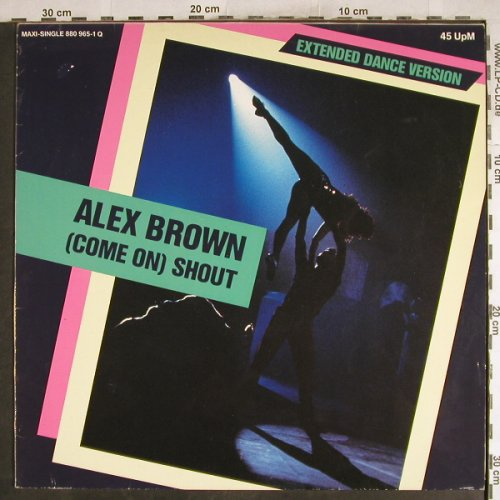 Brown,Alex: (Come On)Shout*2+1, Mercury(880 965-1), D, 1985 - 12inch - H7567 - 1,00 Euro