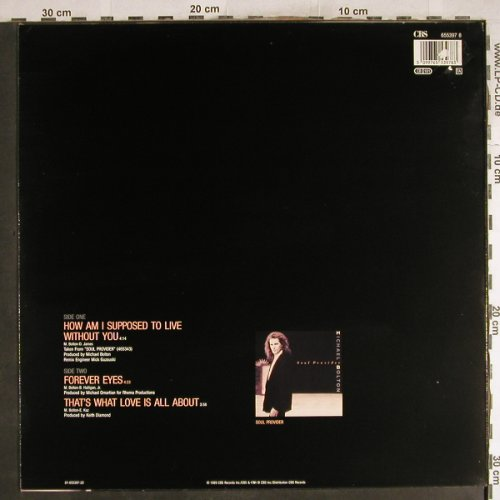 Bolton,Michael: How Am I Supposed To Live...+2, CBS(CBS 655397 8), NL, 1989 - 12inch - H7570 - 2,00 Euro