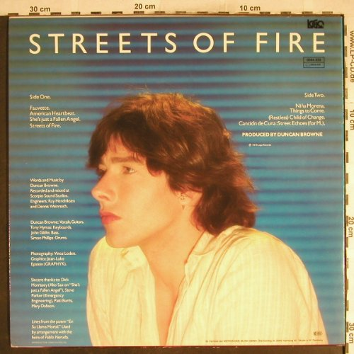 Browne,Duncan: Streets Of Fire, Logo(0064.020), D, 1979 - LP - H7582 - 6,00 Euro