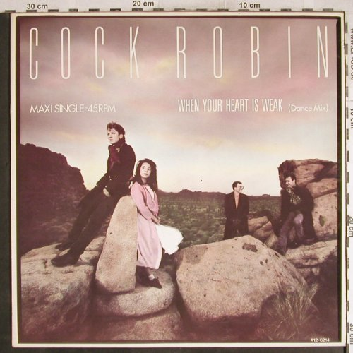Cock Robin: When Your Heart Is Weak*3, CBS(A 12-6214), NL, 1985 - 12inch - H7731 - 1,00 Euro