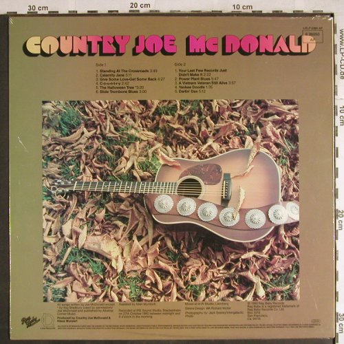 Country Joe Mc Donald: On My Own, FS-New, Line(6.26050 AP), D, 1980 - LP - H7790 - 7,50 Euro