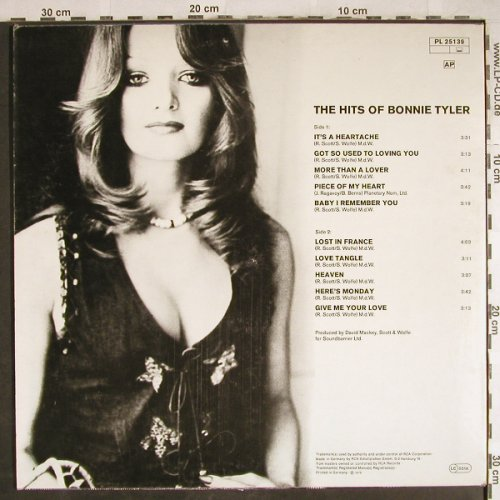 Tyler,Bonnie: The Hits Of, RCA Victor(PL 25139), D, 1978 - LP - H7812 - 5,00 Euro