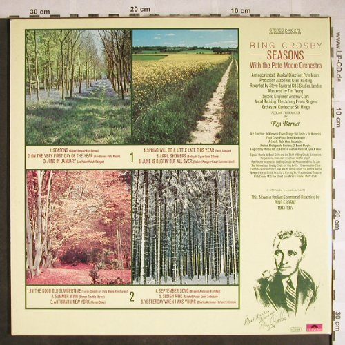 Crosby,Bing: Seasons, Foc, Polyd.(2460 279), D, 1977 - LP - H7835 - 4,00 Euro