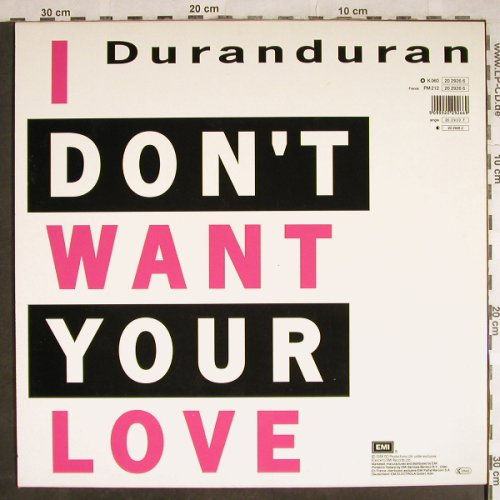 Duran Duran: I Don't Want Your Love*3, EMI(20 2926 6), NL, 1988 - 12inch - H7988 - 2,00 Euro