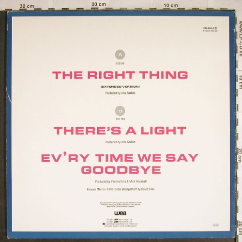 Simply Red: The Right Thing+2 (blue), WEA(248 460-0), D, 1987 - 12inch - H8206 - 4,00 Euro