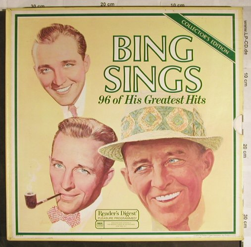 Crosby,Bing: sings 96 of his Greatest Hits, Box, Reader's Digest(RD4-127 1-8), US,Schuber, 1978 - 8LP - H8845 - 30,00 Euro