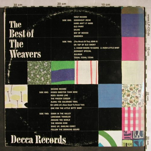 Weavers: The Best of, Foc  (Pete Seeger), Decca(DXSB 7173), US, m-/vg+,  - 2LP - H9094 - 7,50 Euro
