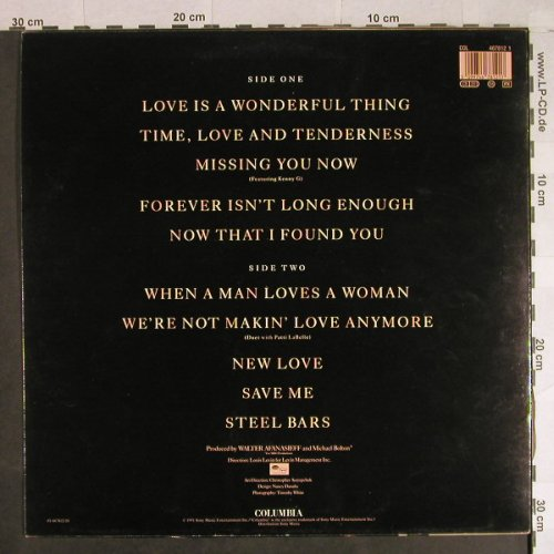 Bolton,Michael: Time,Love & Tenderness, Columbia(467812 1), NL, 1991 - LP - H922 - 6,00 Euro
