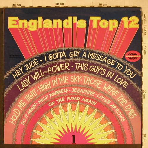V.A.England's Top 12-Vol.1: Hey Jude...On the Road again, Somerset,vocalProduction(673), UK, vg+/m-, 1968 - LP - H9453 - 4,00 Euro