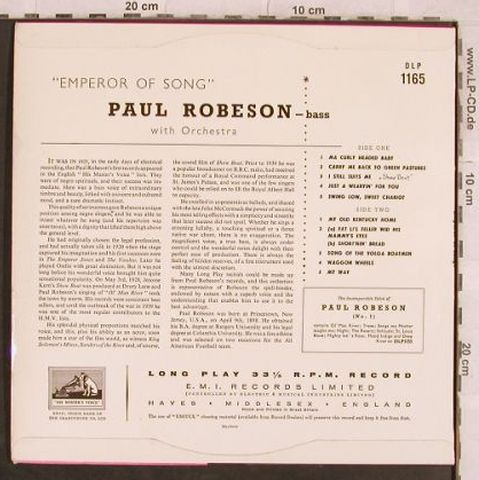 Robeson,Paul: Emperor of Songs !, m-/vg+, His Masters Voice(DLP 1165), UK,  - 10inch - H9801 - 4,00 Euro